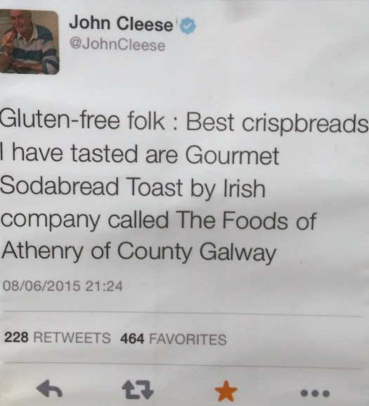 a tweet from john cleese